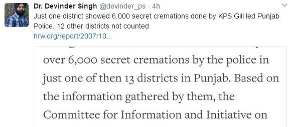Dr Devinder Singh kps tweet