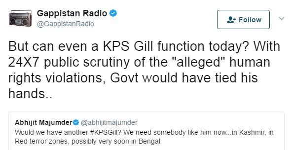 Gappistan KPS Gill tweet
