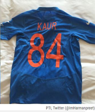 84 shirt harmanpreet india
