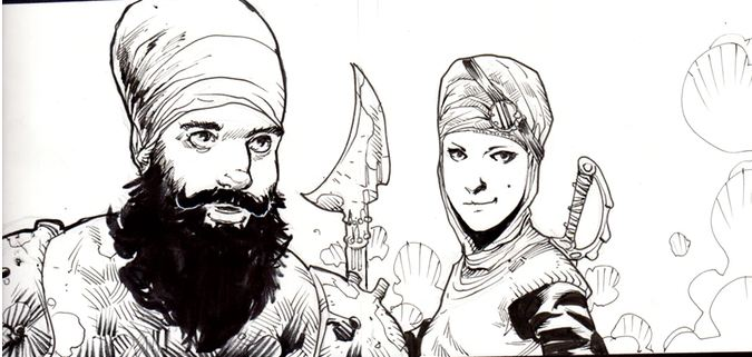 Echoes of Mutiny - cartoon Singh and Kaur