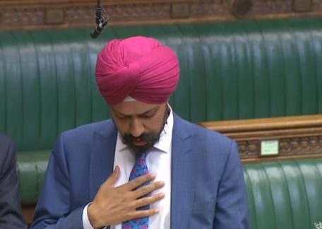 Tanmanjeet pledge House of commons