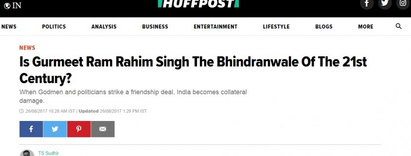 Huff Post - sant ji headline