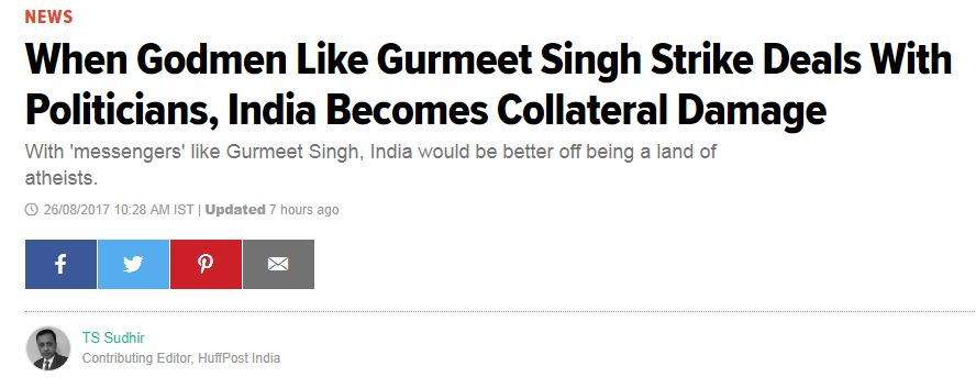 Huff post - sant ji New headline