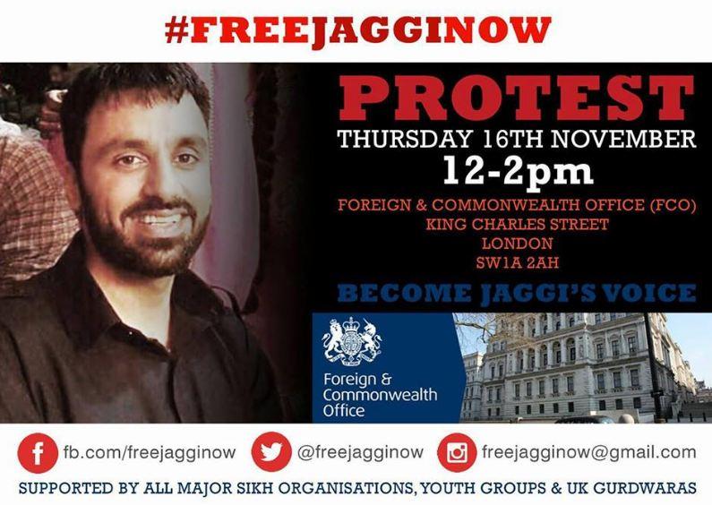 Jagtar Singh london protest nov 16