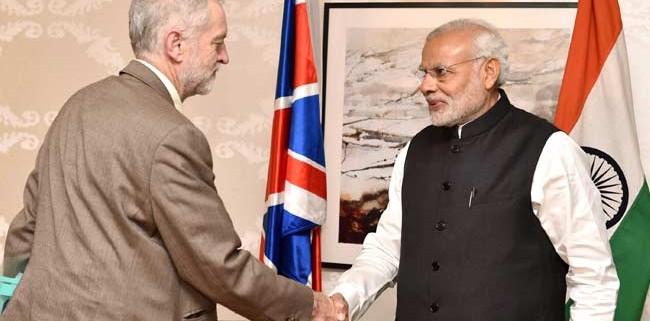 Corbyn meeting Modi in 2015