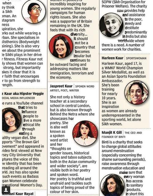 TOI Sikh women article
